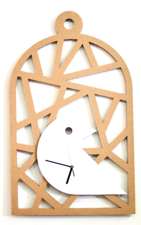 Reloj Jaula / CartónCartón - Artesanio