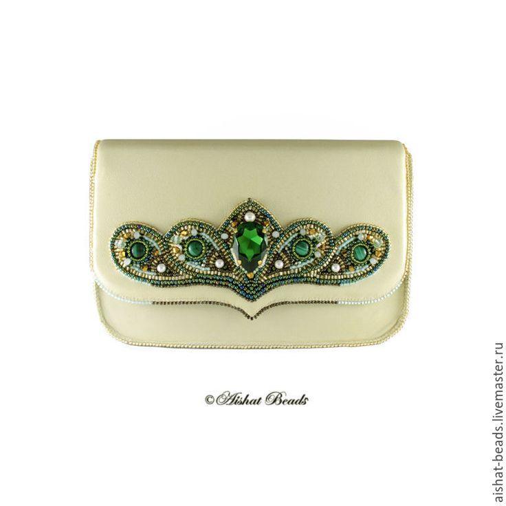Купить Сумочка Green Moss - сумочка из бисера, сумочки ручной работы, bagteria, клатч из бисера