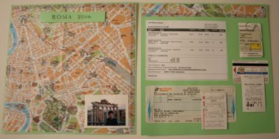 Travel scrapbook - Rome. Chez Larsson.