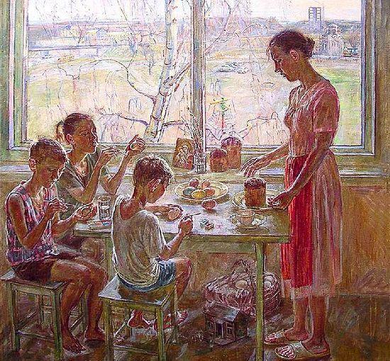 Главное – не забывать о том, ради чего мы все дела затеваем: чтобы весь дом свой, чтобы детей своих привести к радости Христова Воскресения.