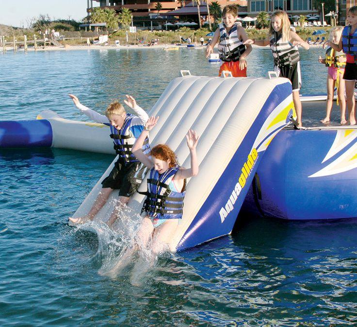 Plundge Slide with kids