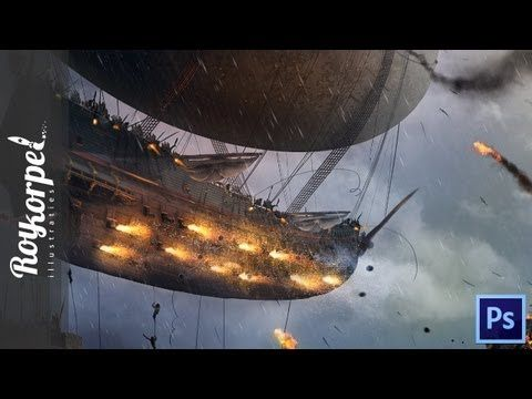 The Flying Pirate Ship | Photoshop cs6 how to time lapse video