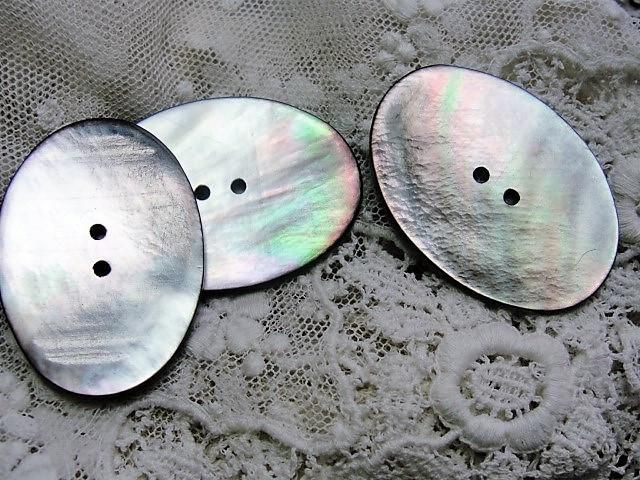 LOVELY Lustrous Mother of Pearl Large Buttons Perfect For Collector and Fine Sewing Projects