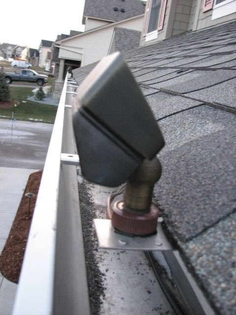 Gutter Mount Dormer Lighting House Exterior And