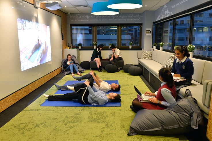 Talent 100 students using the Recharge & Focus Room in the NEW Chatswood Learning Centre.