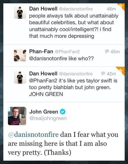 John Green Is Awesome                                                                                                                                                                                 More