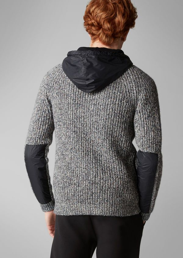 312fcf733d3e Cardigan combo heavy knit denim   MENS KNITWEAR   Men sweater, Denim ...