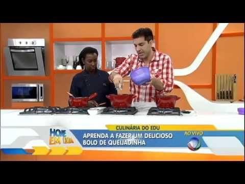 De dar água na boca; Edu Guedes dá receita de bolo de queijadinha - YouTube