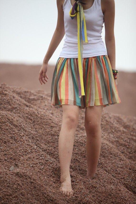 JulyS Striped Skirt
