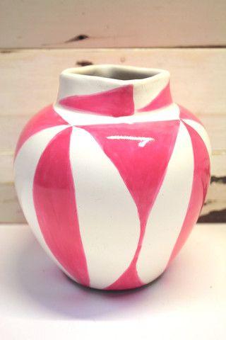 Brush Pop Vase - Pink - colourdecor.com.au
