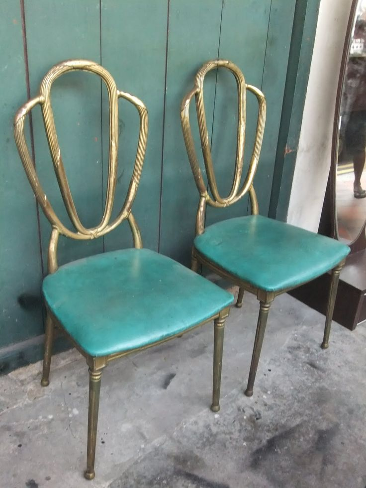brass chairs