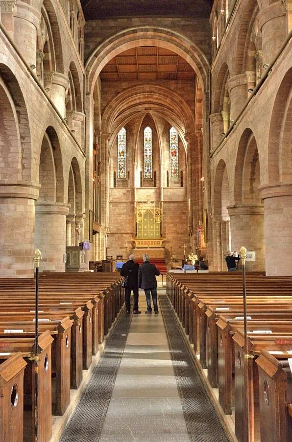 Inside Shrewsbury Abbey