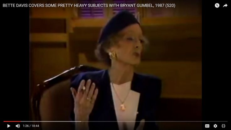 BETTE DAVIS COVERS SOME PRETTY HEAVY SUBJECTS WITH BRYANT GUMBEL, 1987 (...