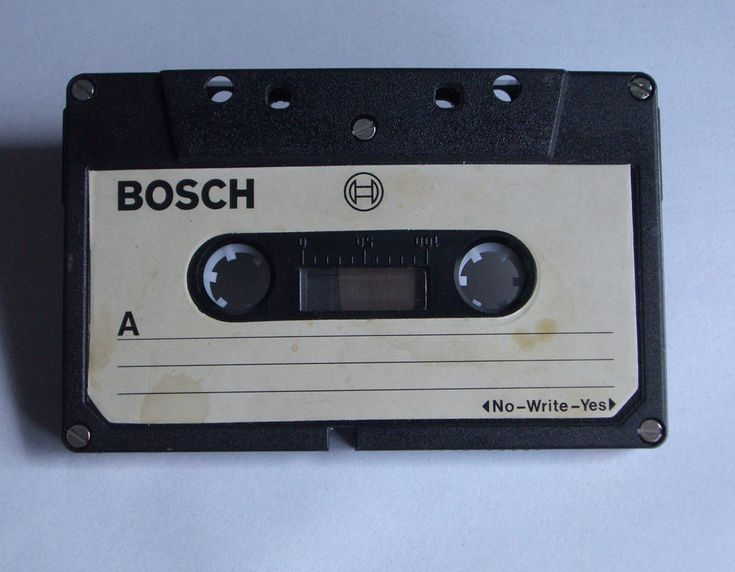 VINTAGE AUDIO CASSETTE TAPE BOSCH ( USED ) \ 60'S - 70'S \ VERY RARE ! #BOSCH