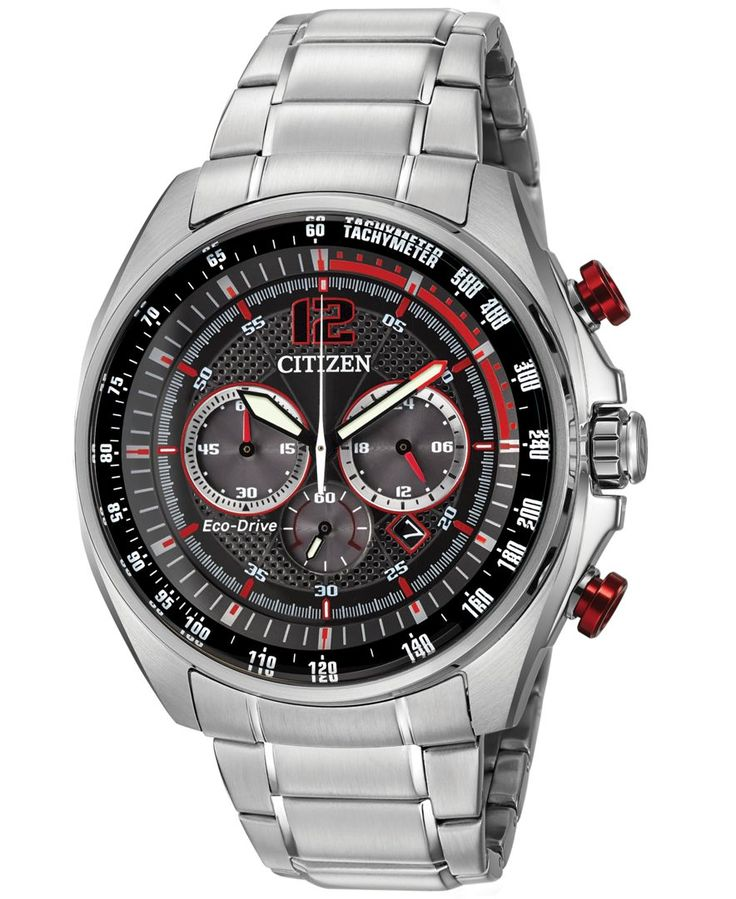 Citizen Men's Chronograph Drive from Citizen Eco-Drive Stainless Steel Bracelet Watch 45mm CA4190-54E