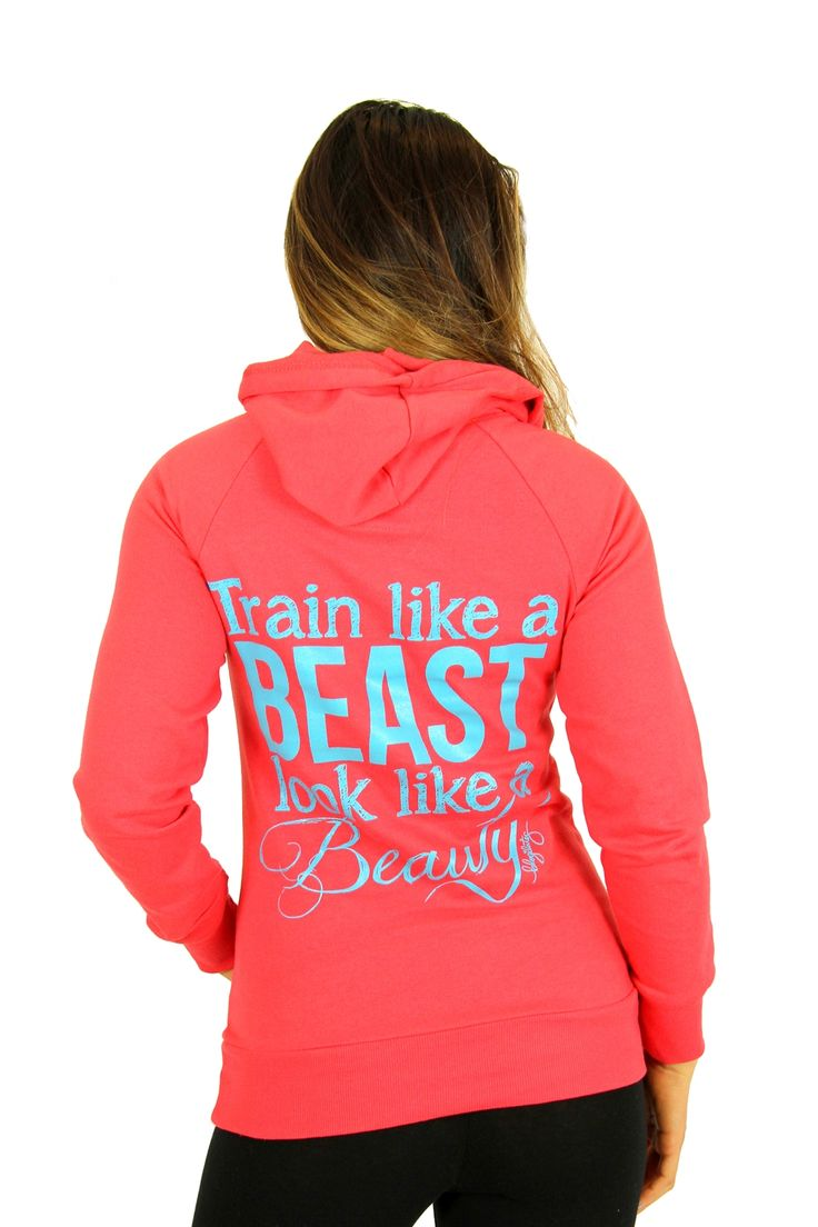 oGorgeous Gym Boutique - Train Like a Beast Classic Hoodie (2 colors)  OMG I REALLY WANT THE 'AQUA' ONE THE ALL BLUE ONE PLEASEEEEEEEEE!!!!