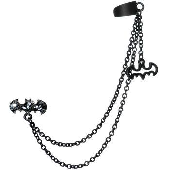 Licensed Black Batman Ear Cuff Double Chain Earring #bodycandy #earrings #batman $11.99