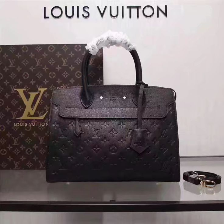 Louis Vuitton lv woman tote bag embossed monogram leather