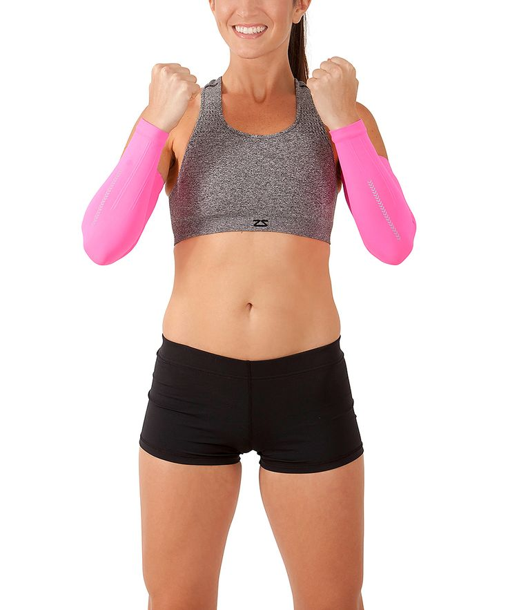 Neon Pink Reflect Compression Arm Sleeves