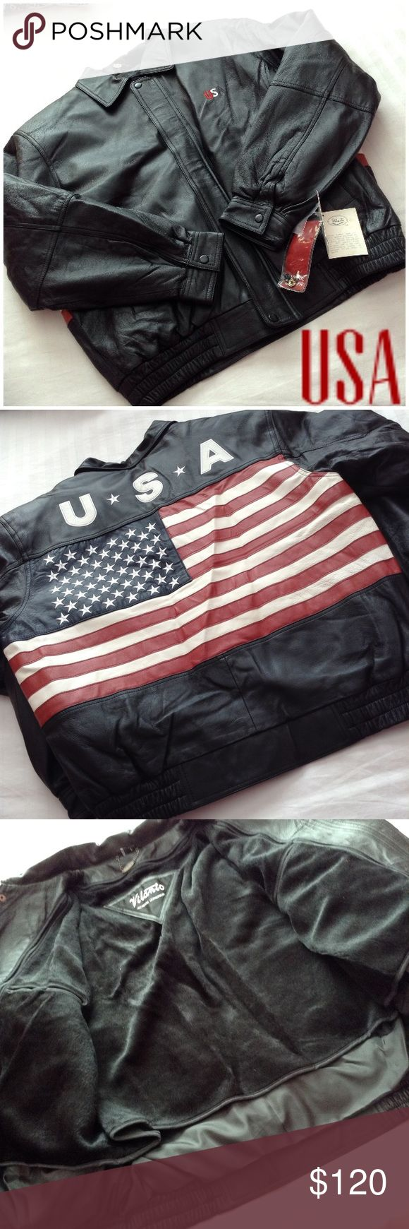 Vilanto Black Usa Leather Bomber L Nwt Usa Leather Leather Bomber Clothes Design [ 1740 x 580 Pixel ]