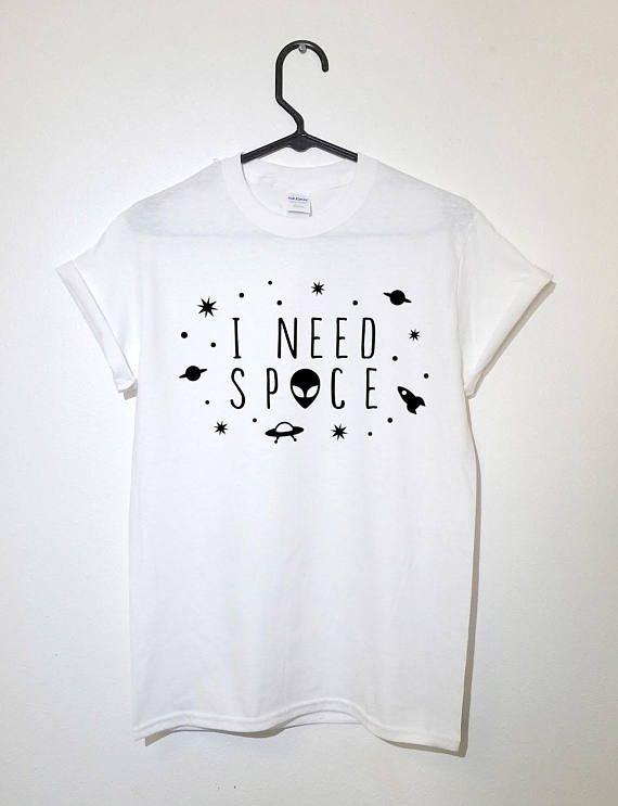e1855999b71 I Need Space T-shirt Funky Alien Outer space Shirt Women Men Gift  Valentine s Day Cute Outfit 60 s 70 s 90 s Girl UFO Summer Fashion Tee Top