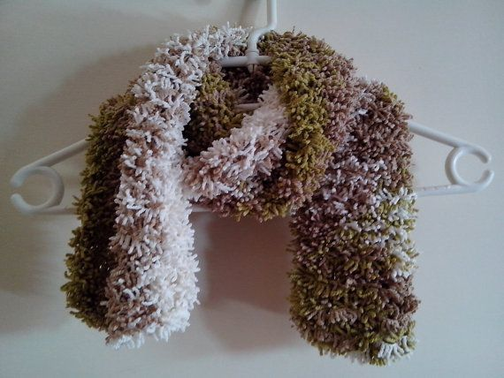 Sciarpa effetto pelliccia fatta ai ferri autunno di Handmadesfiopi