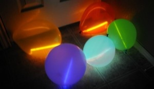 Glow stick balloons...sounds like some night time camping fun