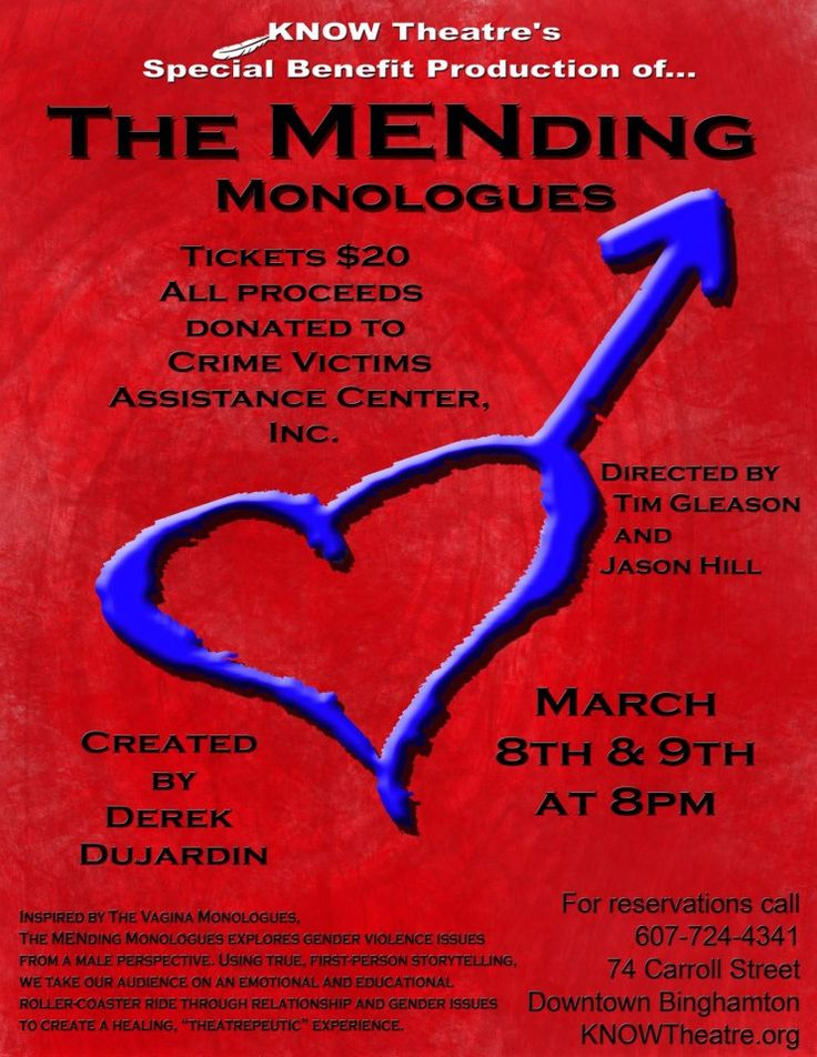 The MENding Monologues by Eric Dujardin