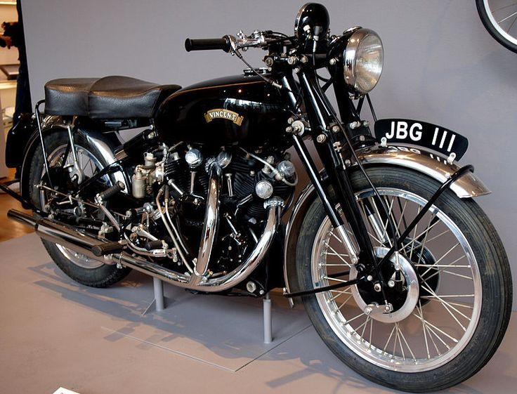 the Vincent Black Shadow...fastest motorcycle in the world for 40 years. And a thing of beauty.