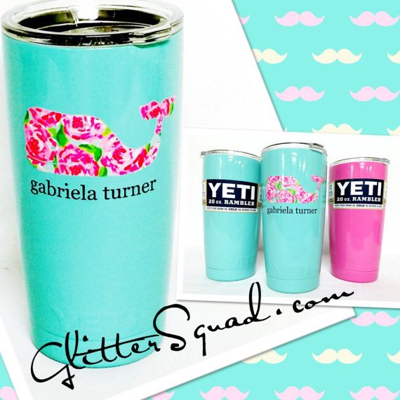 Yeti tumbler limited authentic yeti ramblers rambler tumblers personalized whale or anchor with bow and name