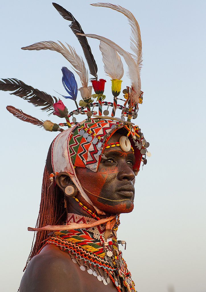 "https://flic.kr/p/sA6czu | Portrait Of Rendille Warrior Wearing Traditional Headwear, Turkana Lake, Loiyangalani, Kenya | © Eric Lafforgue <a href=""http://www.ericlafforgue.com"" rel=""nofollow"">www.ericlafforgue.com</a>"