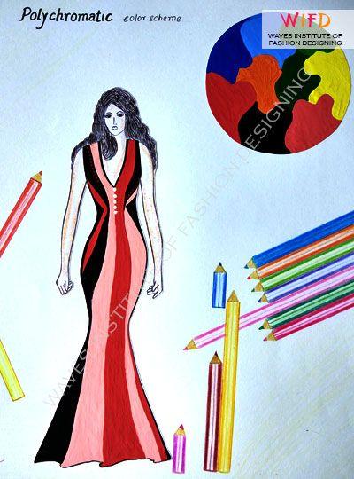 Polychromatic Color Scheme Concept Design Color Theory Fashion
