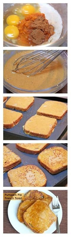 Pumpkin French toast - try with egg replacement