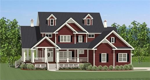 View this 2 story, 3 bedroom Farmhouse home plan (#189-1012) and thousands of similar house designs at The Plan Collection