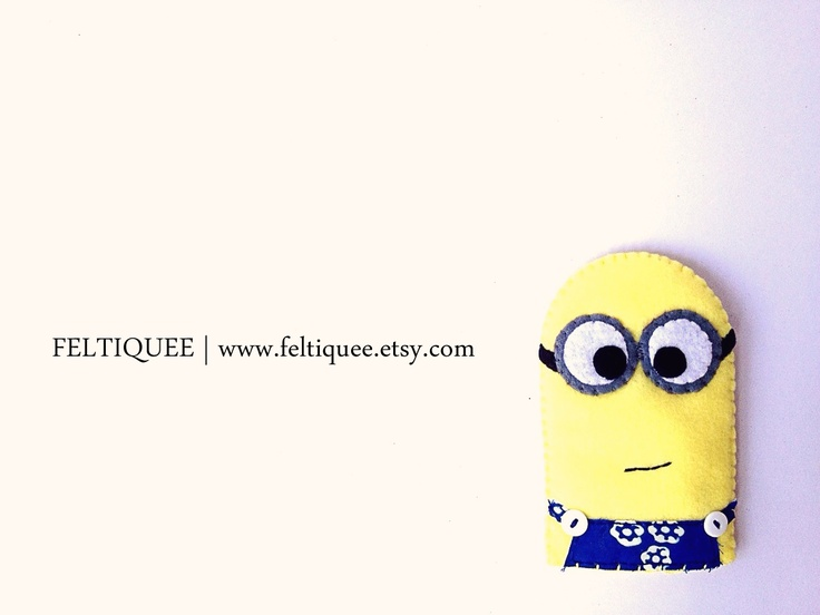 Minions is ready to be your smartphone companion   www.feltiquee.etsy.com