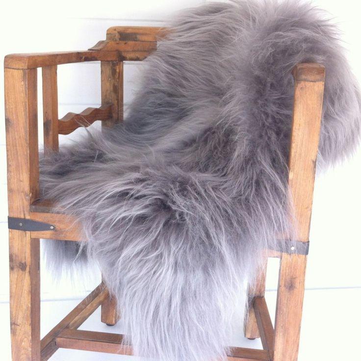 Grey Icelandic Sheepskin Rug at Idyll Home