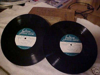 The Perry Mason Radio Show was initially broadcast live, but starting with the August 17, 1950 episode, it was pre-recorded onto discs like the ones pictured here.  That's why most of the extant recordings of the show are from the 1950s.