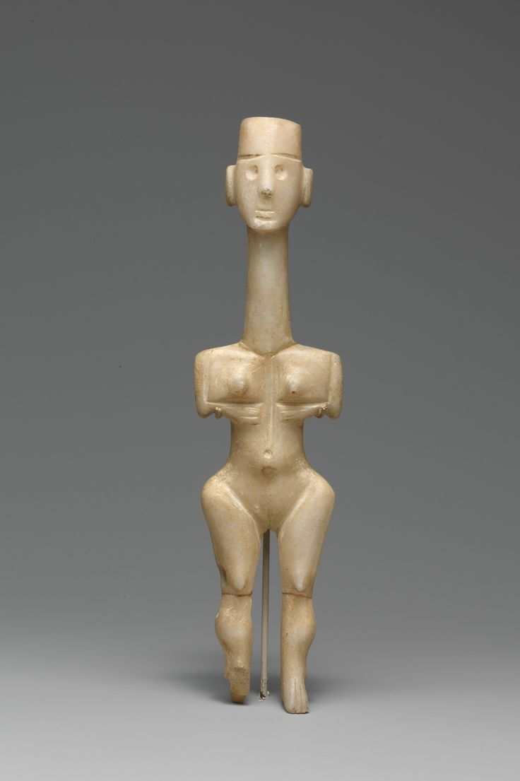 Marble female figure  Period:     Early Cycladic I Date:     3200–2800 B.C. Culture:     Cycladic