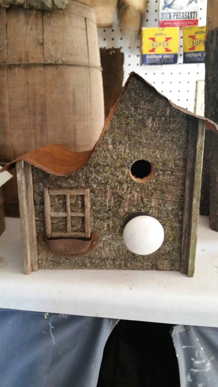 Window bird house - Window Box Barn Wood Bird House