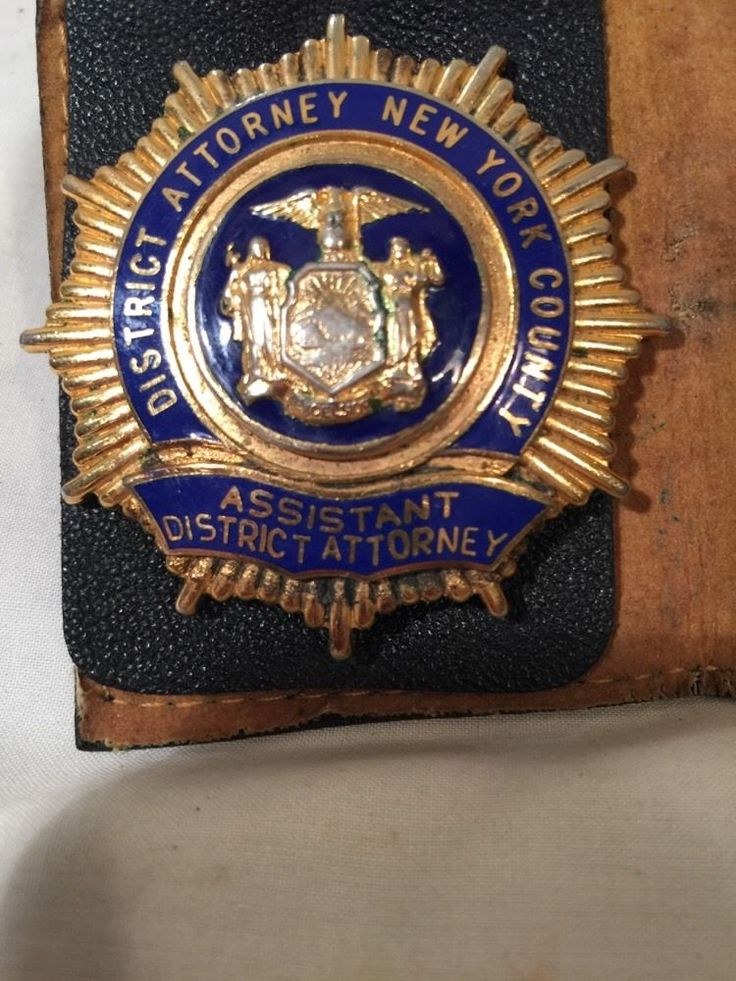 New York County Assistant District Attorney badge | Badges ...