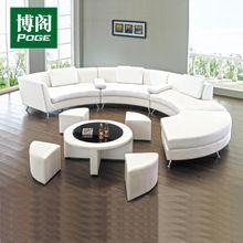 Venta caliente muebles de diseño curvo de cuero sofá seccional A004 ronda