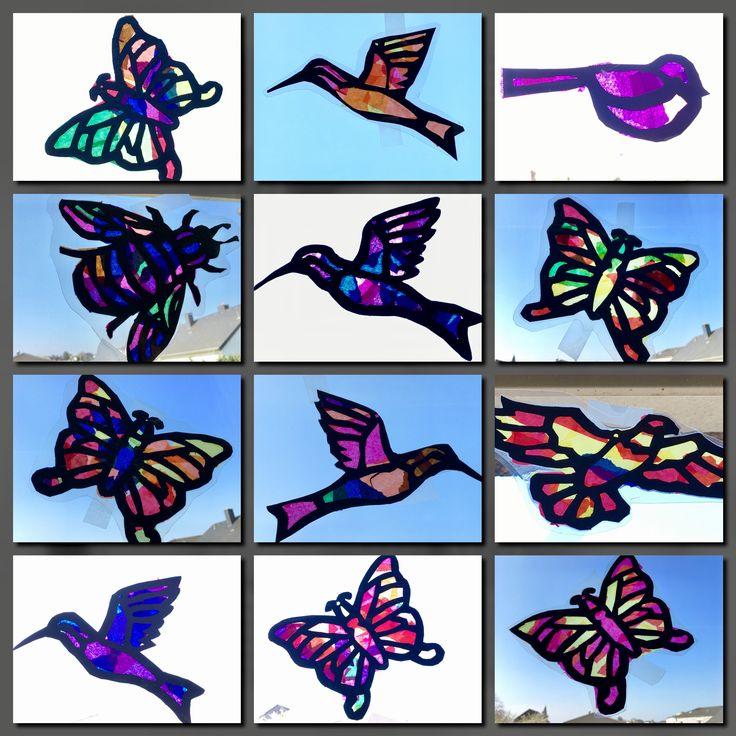 63 besten kunstunterricht malen und basteln in der - Fensterbilder grundschule ...