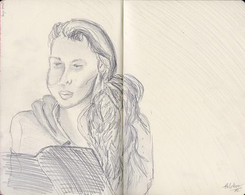 Just a sketch. Just a girl. by Kaja Zalokar