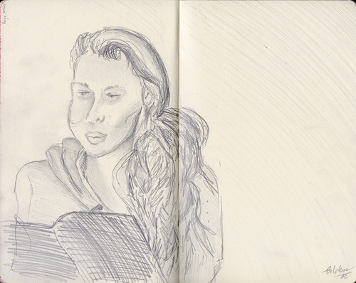 Just a sketch. Just a girl. by Kaja Zalokar
