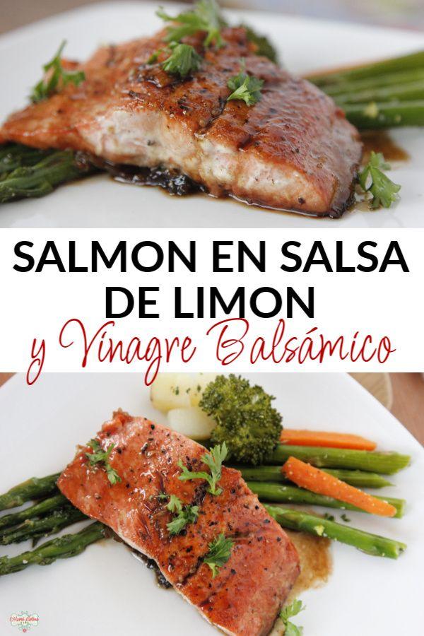 El salmón es un pescado muy nutritivo que aporta grasas omega 6 a nuestro organismo. Ideal para la cuaresma, este salmón está preparado en una sartén de hierro forjado y condimentado con una salsa de mantequilla, limón y vinagre balsámico. Es una receta muy fácil y sencilla de preparar. Sirve con verduras y arroz. #recetasdepescado #recetasdecuaresma #filetedesalmón Healthy Breakfast Recipes, Healthy Eating, Good Food, Yummy Food, Salmon Recipes, Food Network Recipes, Meal Prep, Salsa, Vegan Recipes