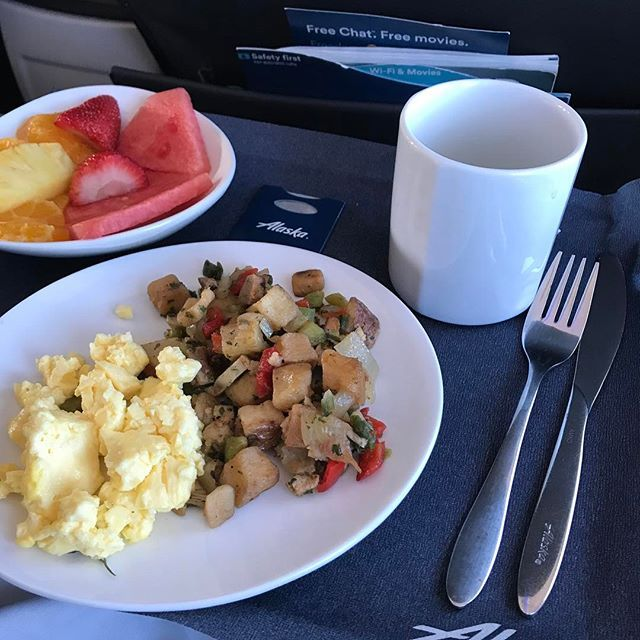 Staying classy on the way to San Diego with this delicious breakfast spread :) #firstclass #travel #food #alaskaairlines #stayclassy #sandiego #sandiego #sandiegoconnection #sdlocals #sandiegolocals - posted by Derek Hamilton https://www.instagram.com/thisisdelboy. See more post on San Diego at http://sdconnection.com