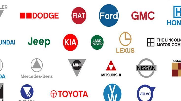 Famous Car Logos Get Flat Design Reworking Logo