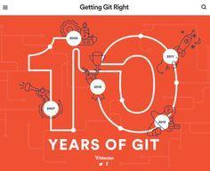 Décimo aniversario de Git – infografía interactiva