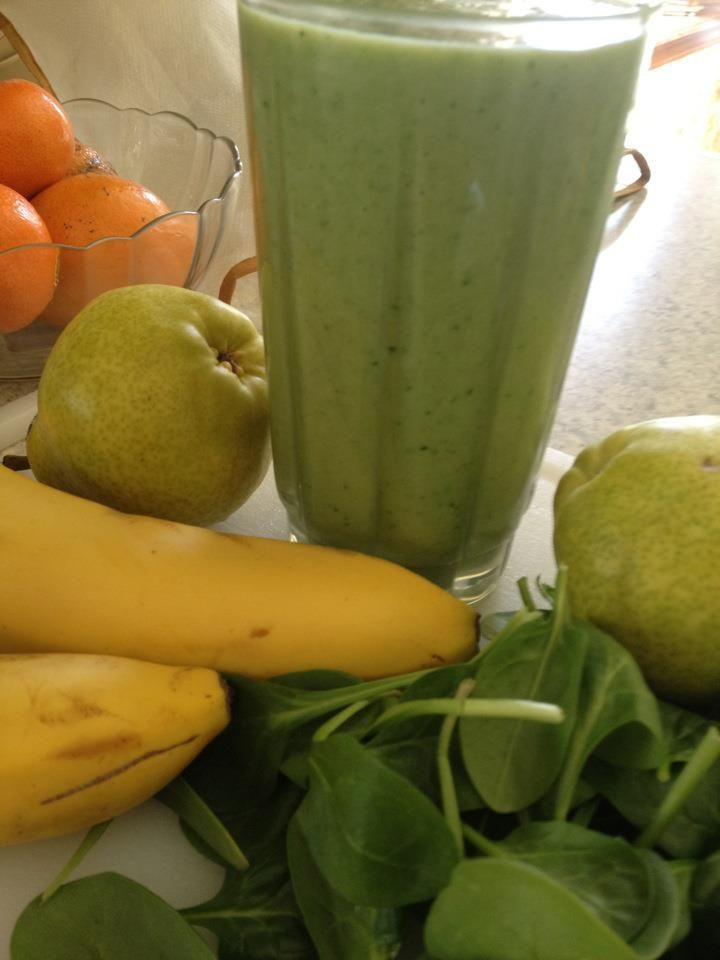 Spinach Banana Pear Smoothie | Healthy Body Now