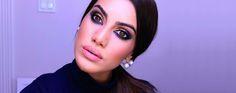 Camila Coelho mostra o look criado com o novo estojo de sombras da linha Aquarela